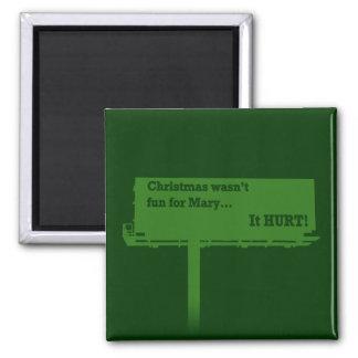 Ímã engraçado do quadro de avisos do Natal Ímã Quadrado