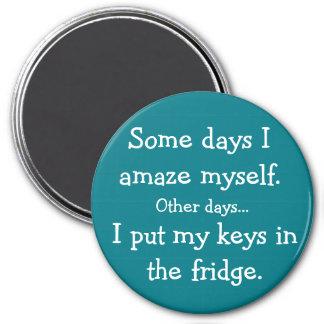 Imã Engraçado eu pôr minhas chaves no ímã redondo do