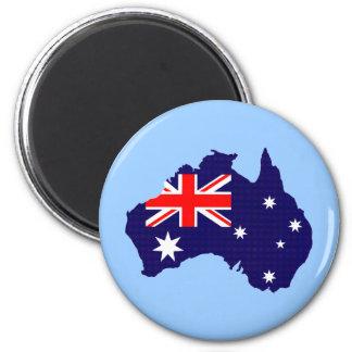 Imã Esboço e bandeira de Austrália