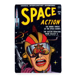 Ímã Espace o cobrir de banda desenhada de Sci Fi do