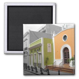 Ímã espanhol da arquitetura ímã quadrado