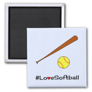 Imã Esportes do slogan do hashtag do softball do amor