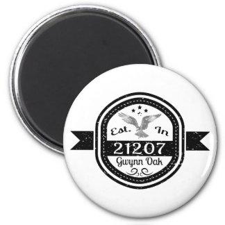 Imã Estabelecido no carvalho de 21207 Gwynn