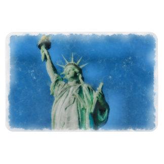 Ímã Estátua da liberdade, pintura das aguarelas de New