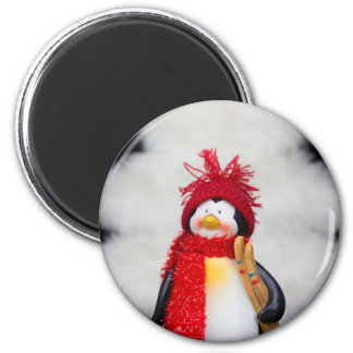 Imã Estatueta do pinguim com árvore do White Christmas