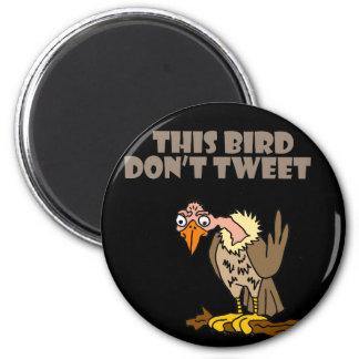 Imã Este pássaro não tweet desenhos animados do