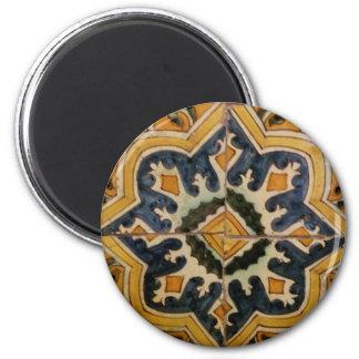 Imã Estrela turca do amarelo do azulejo do vintage do