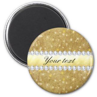 Imã Estrelas Sparkling e diamantes do ouro chique