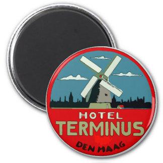 Imã Etiqueta holandesa do viagem do hotel