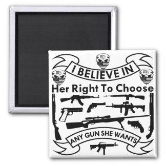 Imã Eu acredito em seu direito de escolher toda a arma