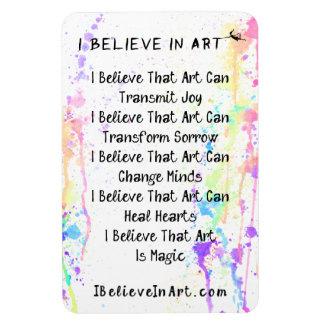 Ímã Eu acredito no promocional do manifesto da arte