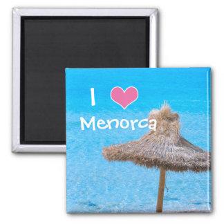 Imã Eu amo a lembrança do guarda-chuva de Menorca Sun
