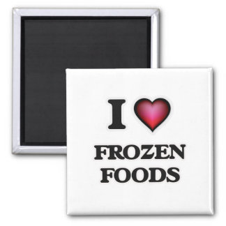 Imã Eu amo alimentos congelados