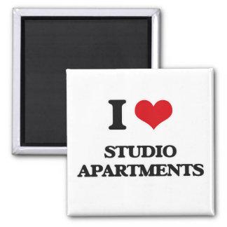 Imã Eu amo apartamentos de estúdio