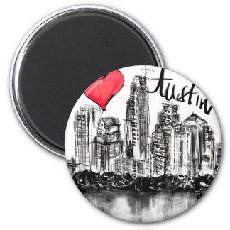 Imã Eu amo Austin