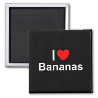 Imã Eu amo bananas do coração