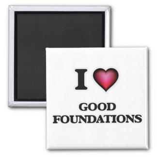 Imã Eu amo boas fundações