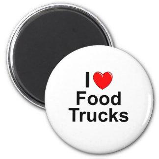 Imã Eu amo caminhões da comida do coração