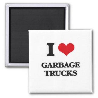 Imã Eu amo caminhões de lixo