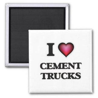 Imã Eu amo caminhões do cimento