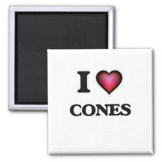 Imã Eu amo cones