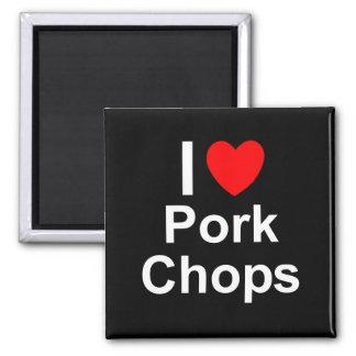 Imã Eu amo costeletas de carne de porco do coração