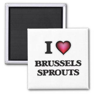 Imã Eu amo couves de Bruxelas