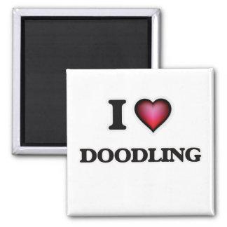 Imã Eu amo Doodling