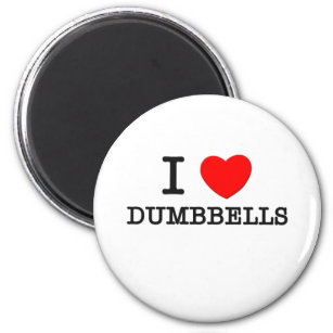 Imã Eu amo Dumbbells