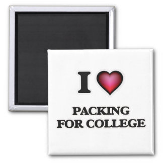 Imã Eu amo embalar para a faculdade