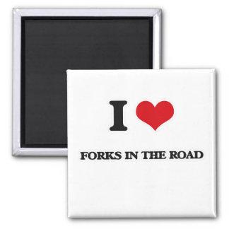 Imã Eu amo forquilhas na estrada