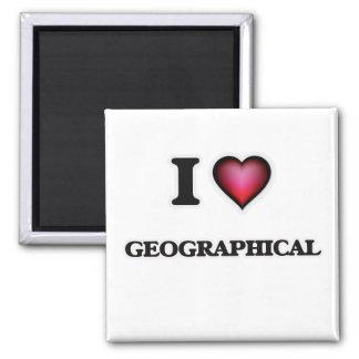 Imã Eu amo geográfico