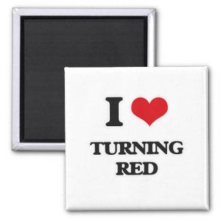 Imã Eu amo girar o vermelho