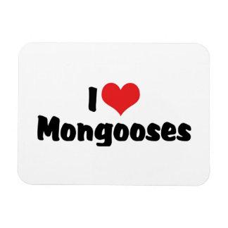 Ímã Eu amo mangustos do coração - amante do mangusto