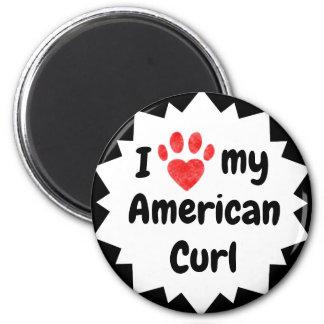 Imã Eu amo meu gato americano da onda