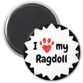 Imã Eu amo meu gato de Ragdoll