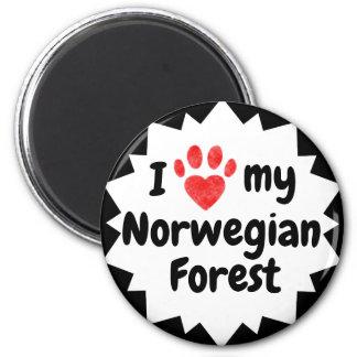 Imã Eu amo meu gato norueguês da floresta