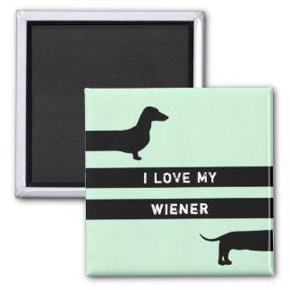 Imã Eu amo meu ímã moderno da silhueta do wiener