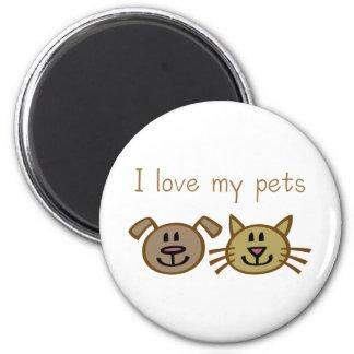 Imã Eu amo meus animais de estimação