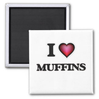 Imã Eu amo muffin