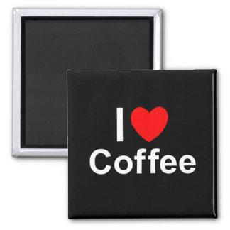 Imã Eu amo o café do coração