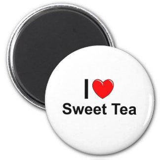 Imã Eu amo o chá do doce do coração