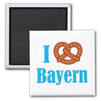 Imã Eu amo o ímã do refrigerador de Baviera