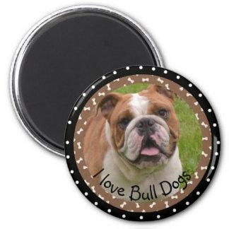 Imã Eu amo o ímã dos cães de Bull