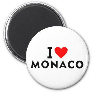 Imã Eu amo o país de Monaco como o turismo do viagem