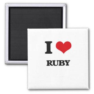 Imã Eu amo o rubi