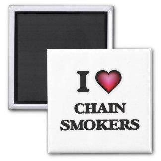 Imã Eu amo os fumadores Chain