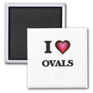 Imã Eu amo Ovals