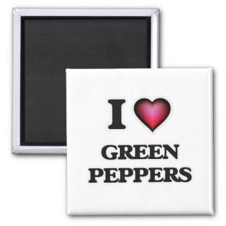 Imã Eu amo pimentas verdes