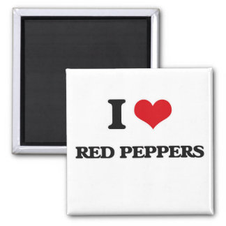 Imã Eu amo pimentas vermelhas